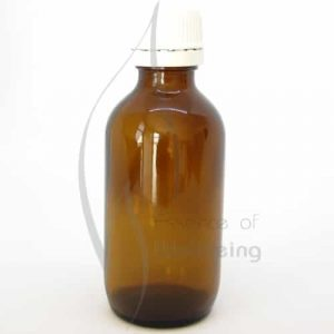 100ml Amber glass bottle with cap