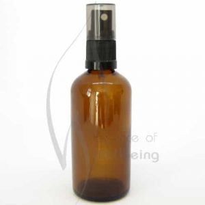 100ml Amber glass bottle with spray