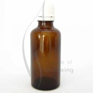 50ml Amber glass bottle with cap & dripolator